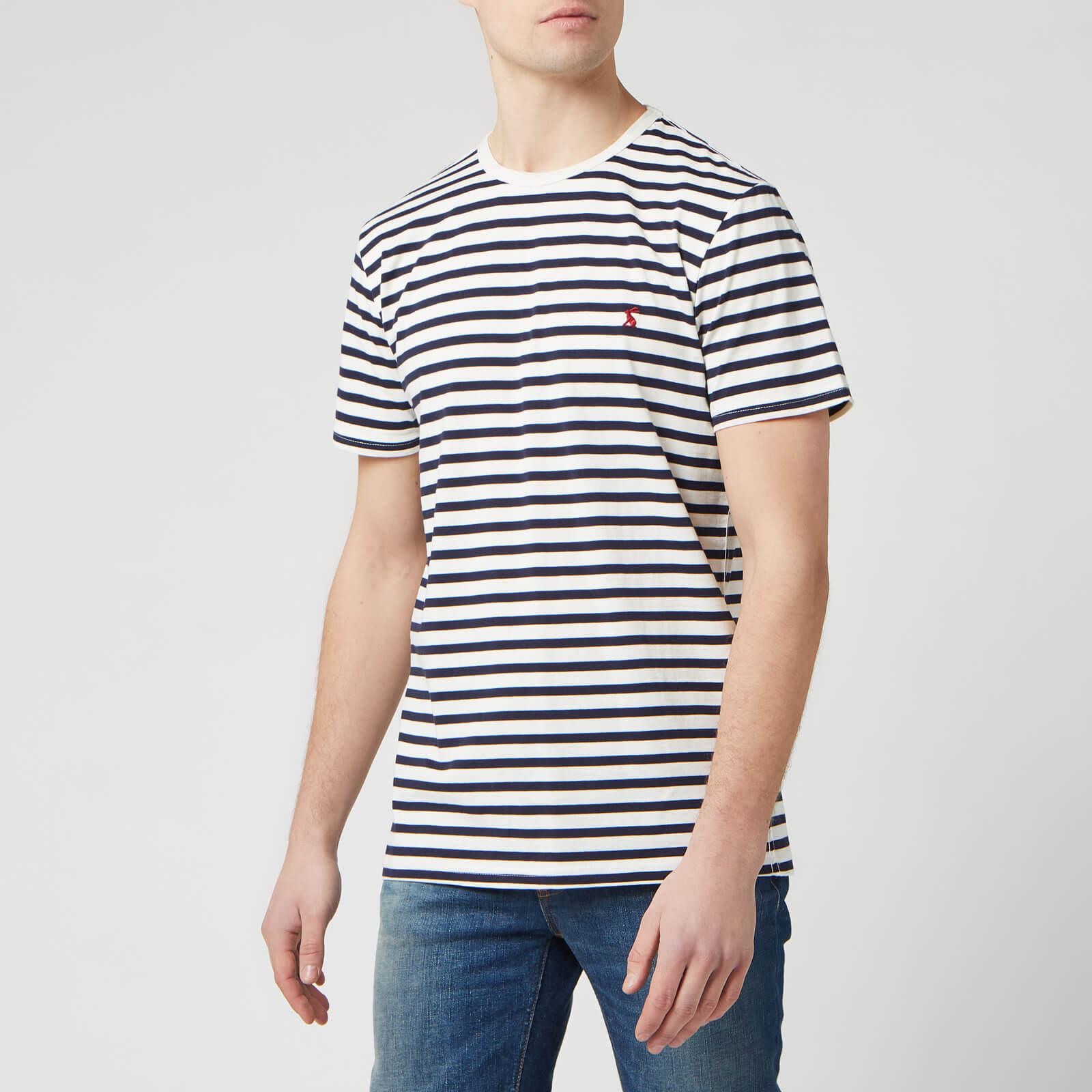 Joules Men's Boathouse T-Shirt - Cream Navy Stripe - XXL - Cream