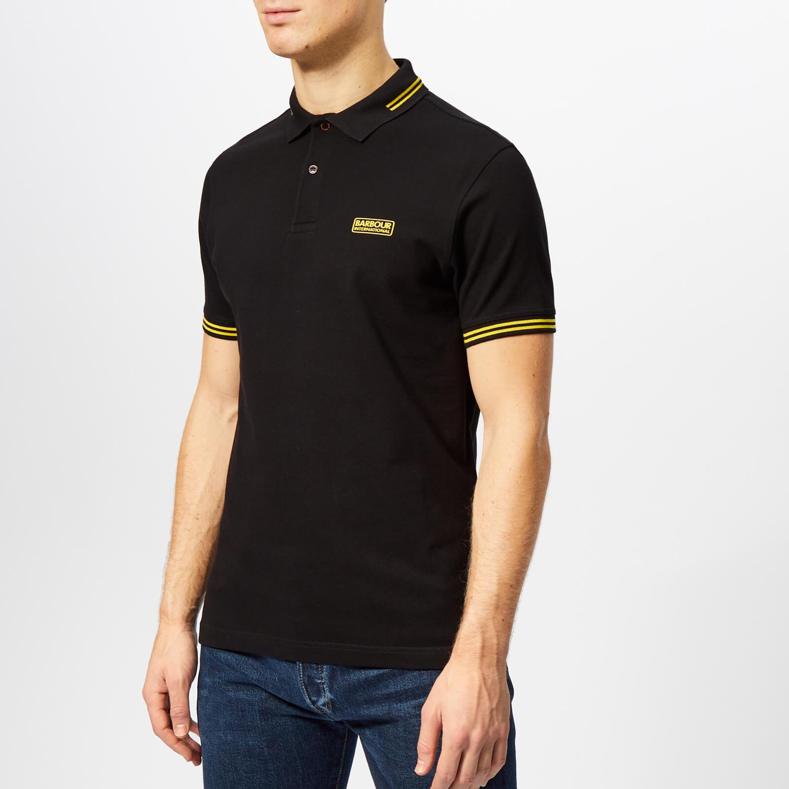 Barbour International Men's Essential Tipped Polo Shirt - Black - S