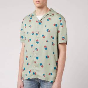 Nudie Jeans Men's Arvid Random Dots Short Sleeve Shirt - Pale Green - XL