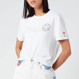 Tommy Jeans Women's Summer Smiley Back T-Shirt - White - XS