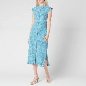 Whistles Women's Astrix Floral Blue Dress - Blue/Multi - UK 6