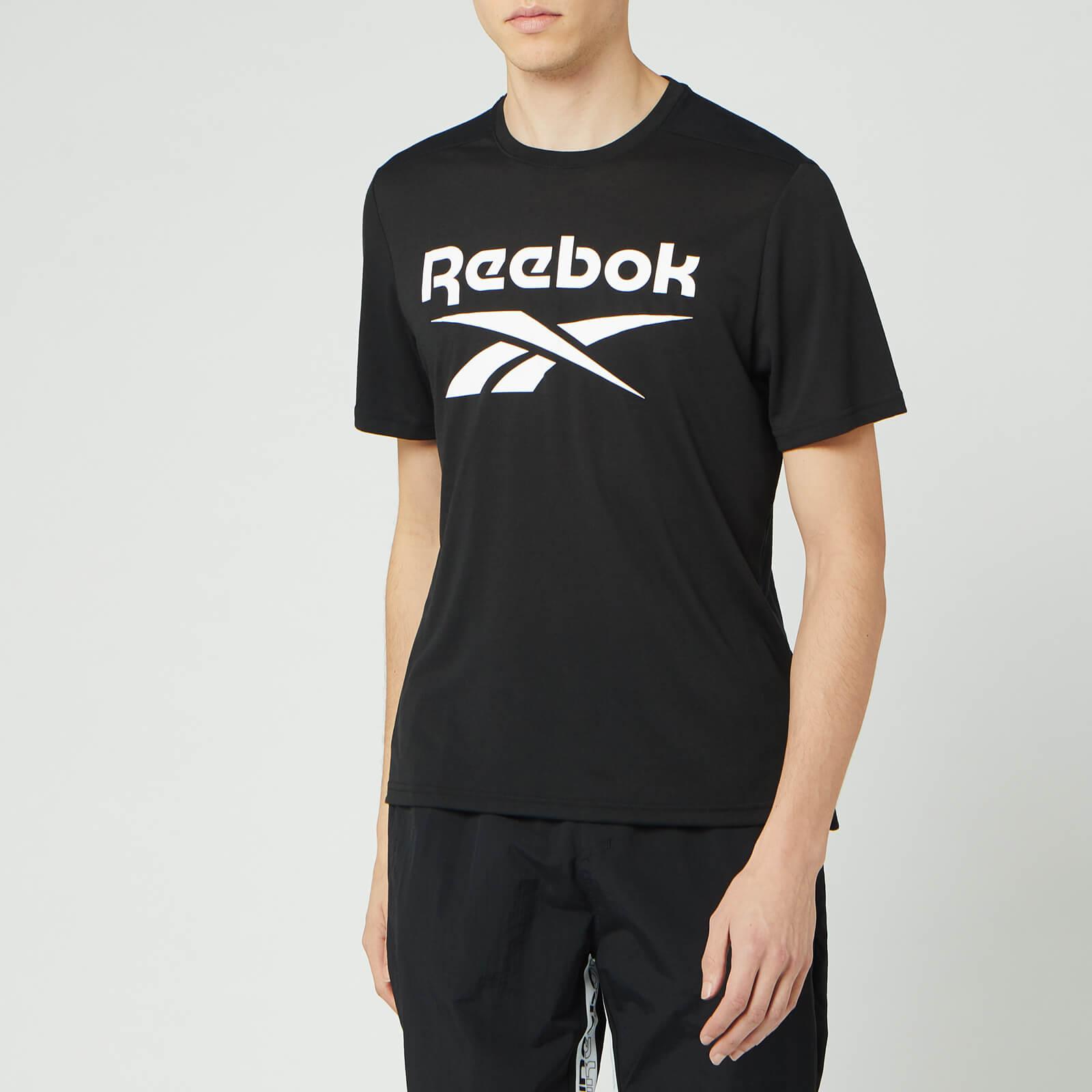 Reebok Men's Supremium Graphic Short Sleeve T-Shirt - Black - M
