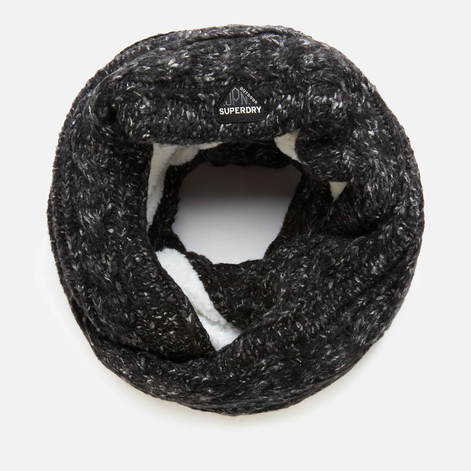 Superdry Women's Gracie Cable Snood - Black Tweed