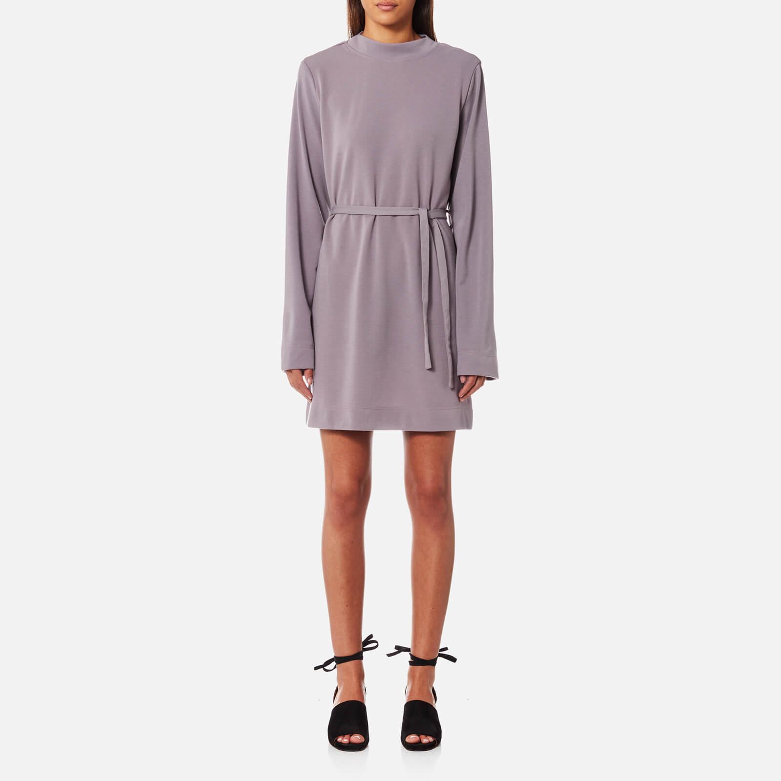 House of Sunny Women's Kicker T-Shirt Long Sleeve Dress - Sweet Lilac - UK 10 - Purple