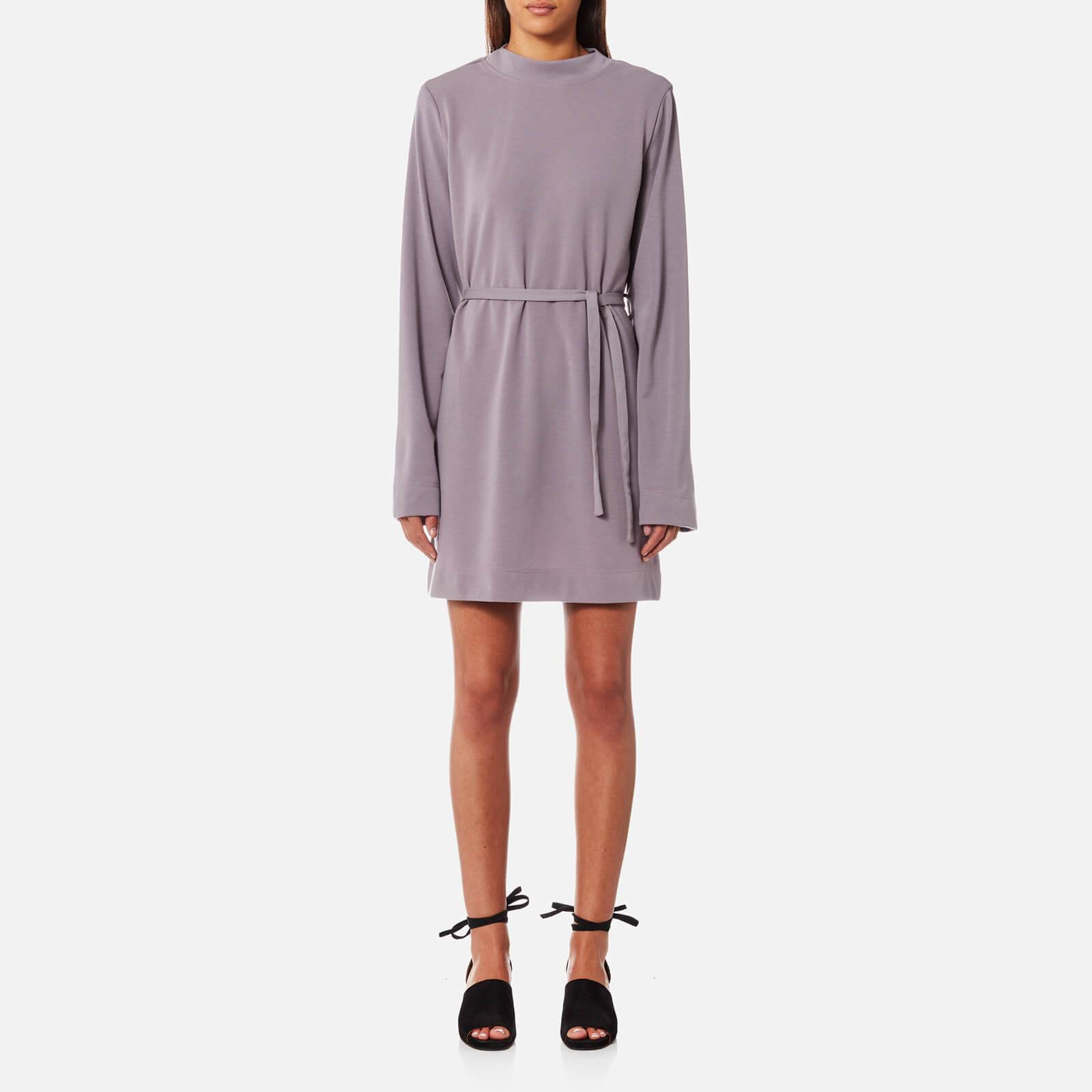 House of Sunny Women's Kicker T-Shirt Long Sleeve Dress - Sweet Lilac - UK 12 - Purple
