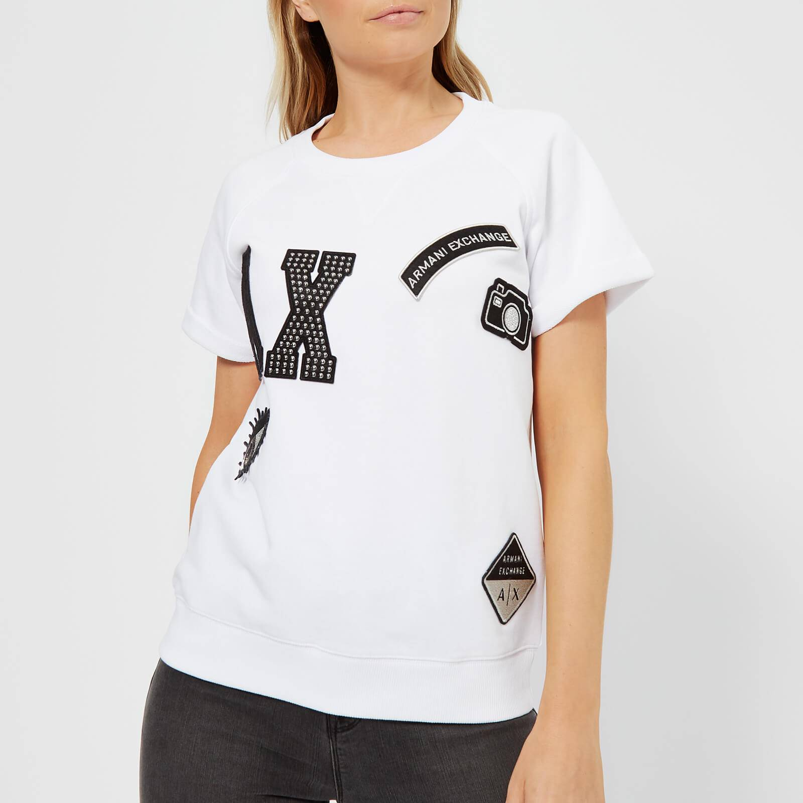 Armani Exchange Women's Patchwork T-Shirt - White - XS - White