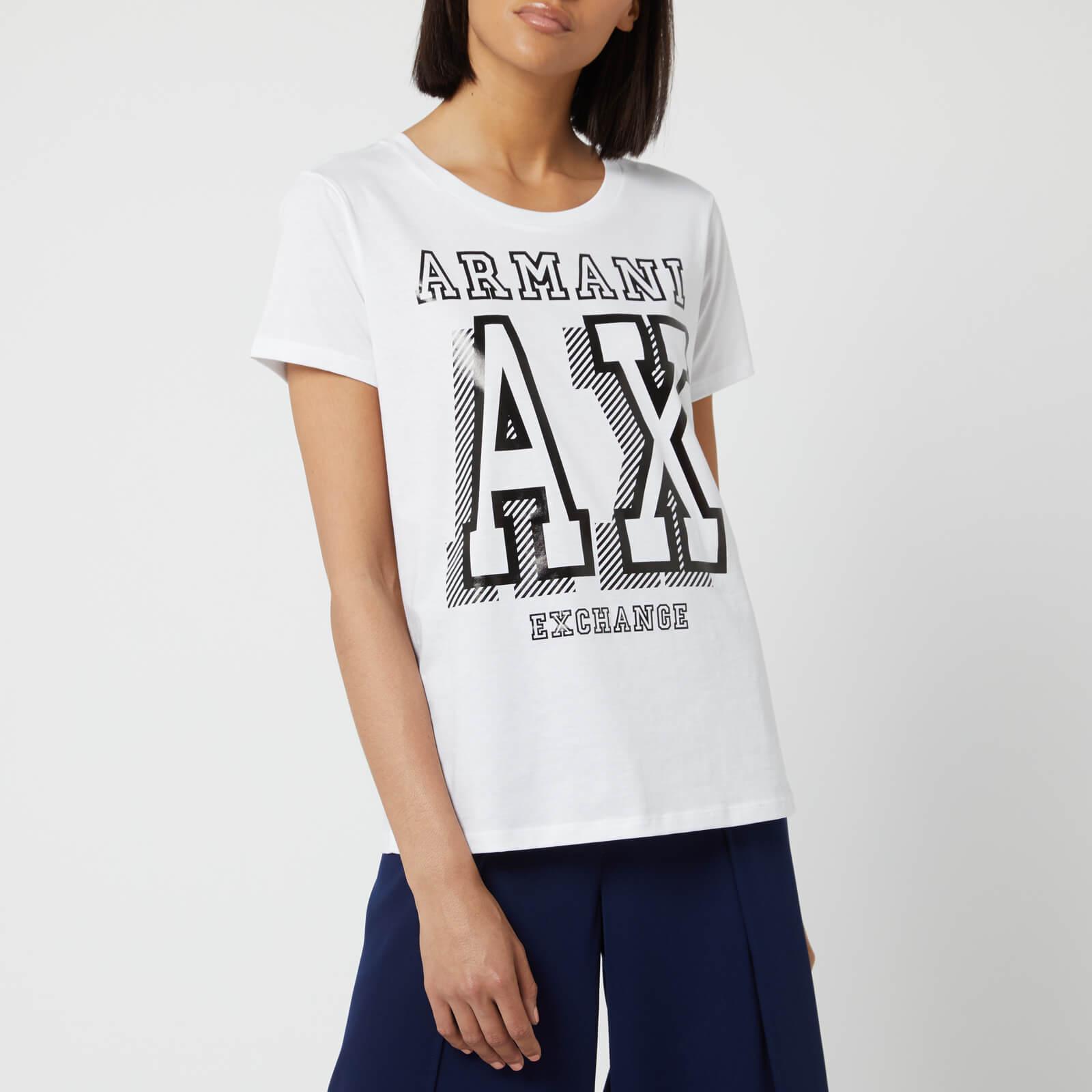 18993ec02a Armani Exchange Women's Logo T-Shirt - White - L - White