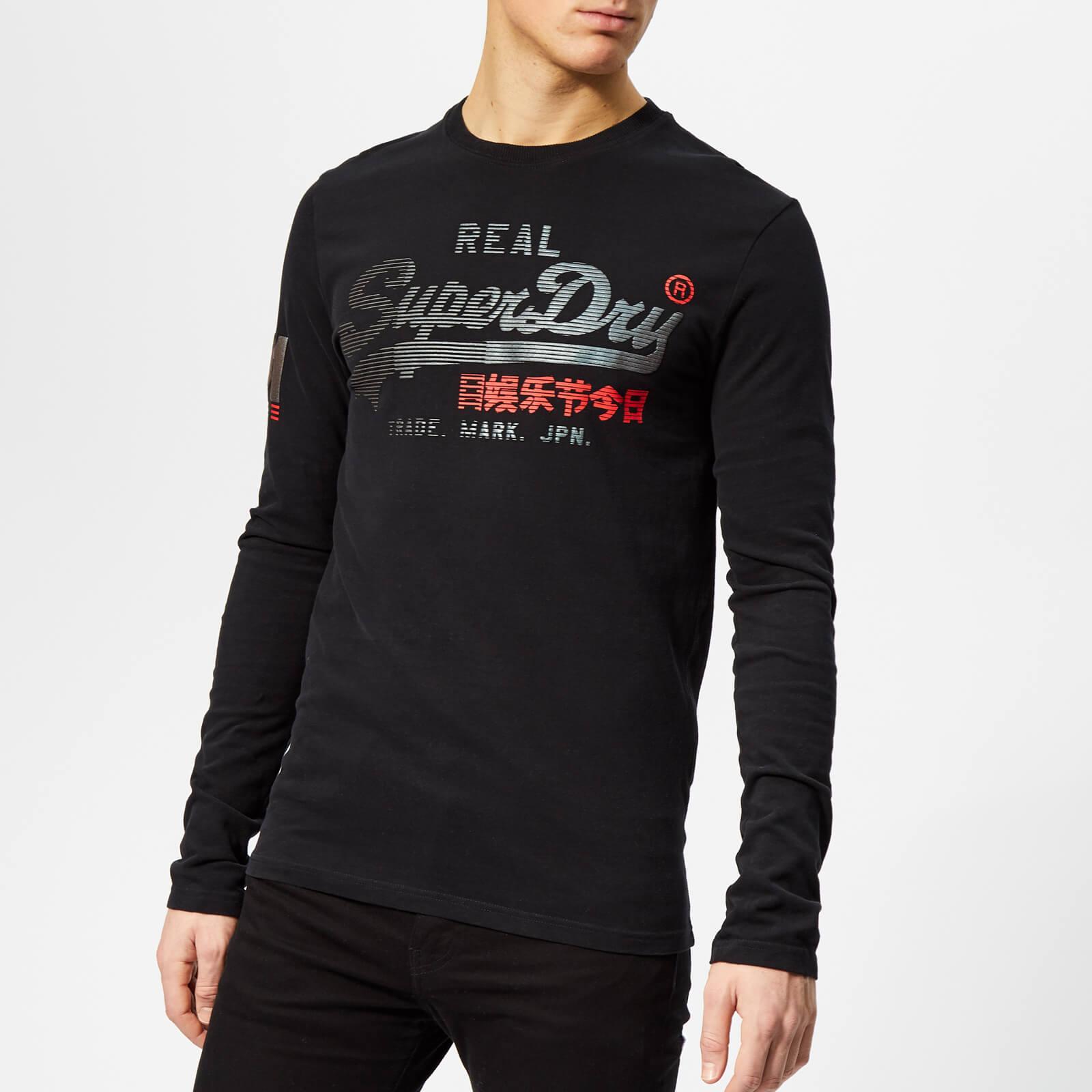Superdry Men's Vintage Logo 1st Duo Long Sleeve T-Shirt - Black - L - Black