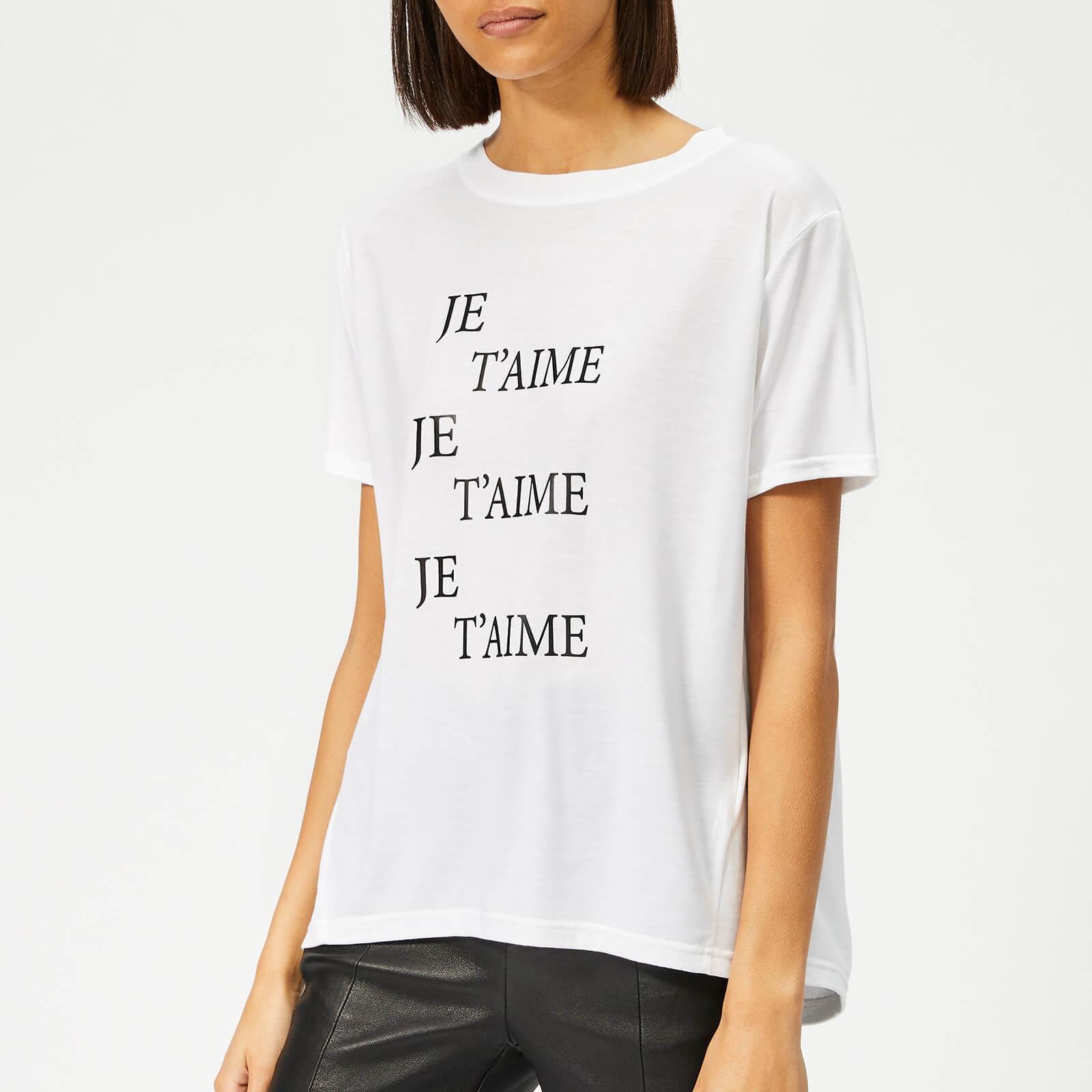 Whistles Women's Je T'aime Logo T-Shirt - White - XS - White