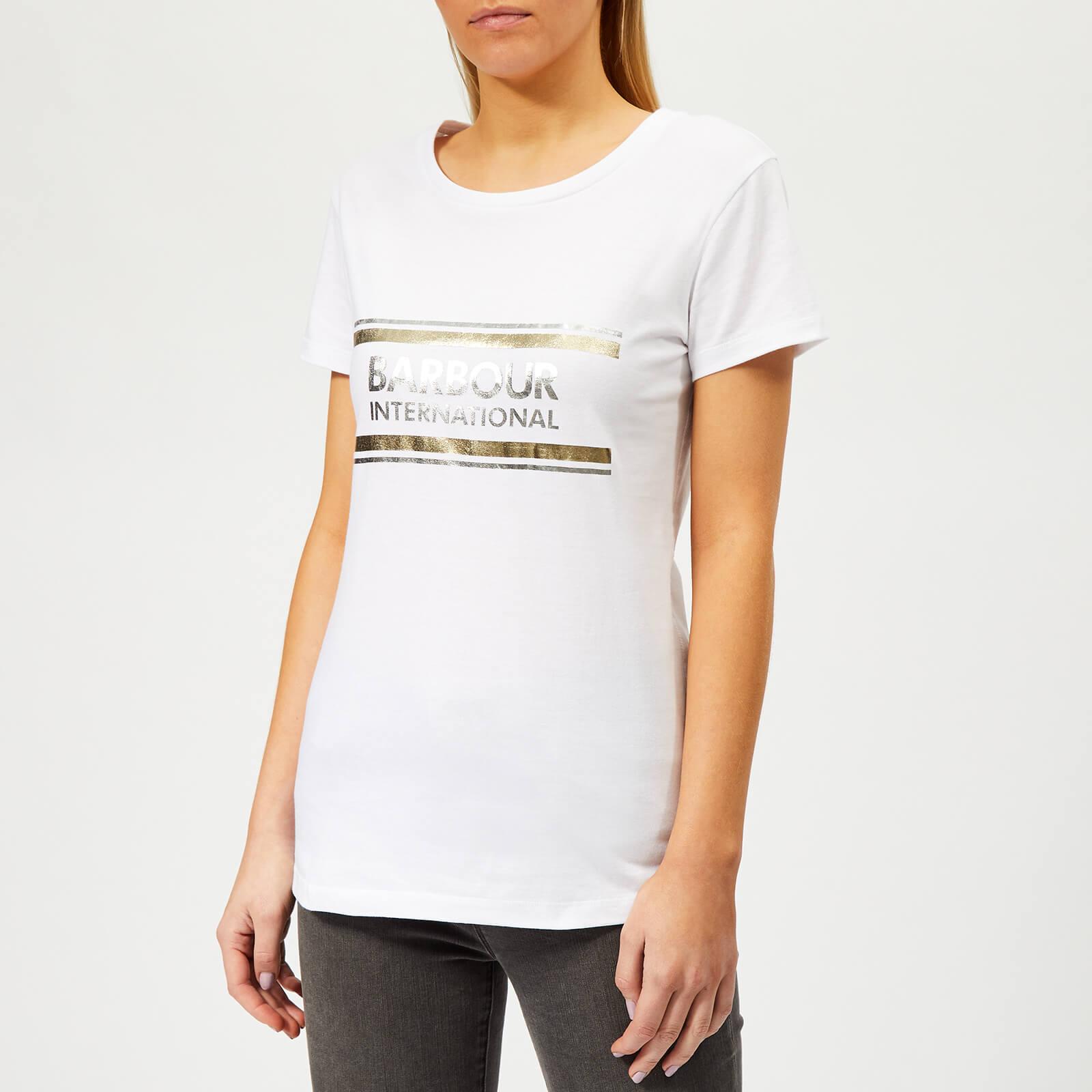 Barbour International Women's Black Flag T-Shirt - White - UK 10 - White