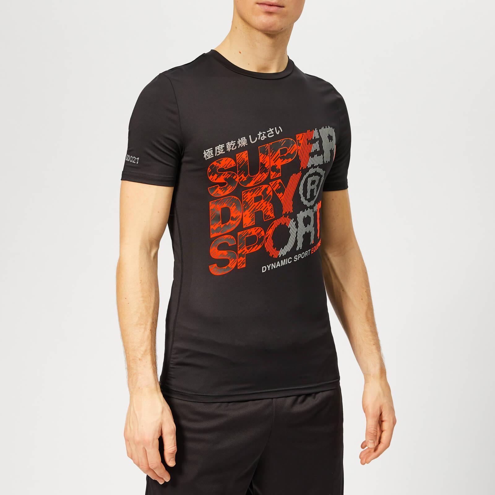 Superdry Sport Men's Active Graphic T-Shirt - Black - M - Black