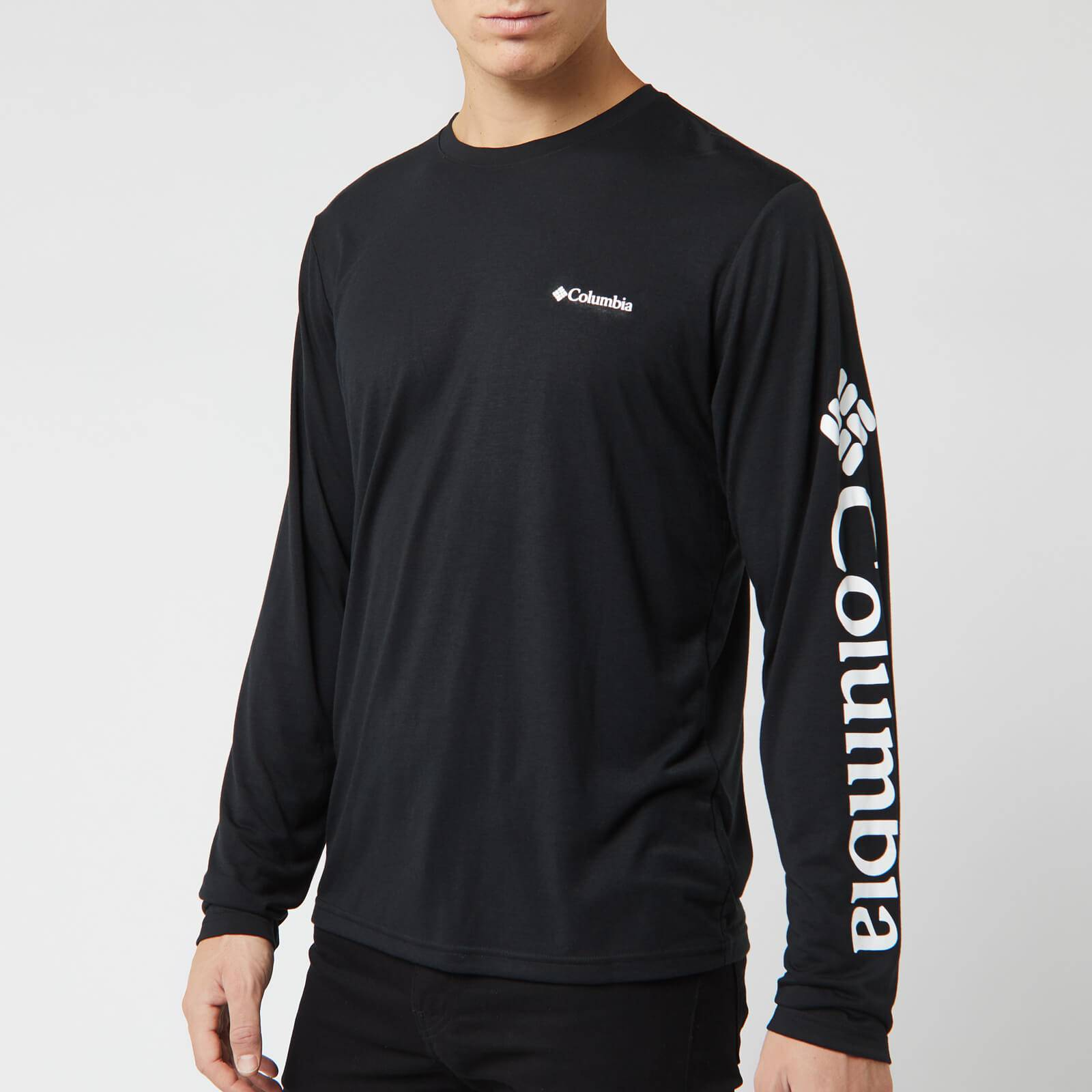 Columbia Men's Miller Valley Long Sleeve Graphic T-Shirt - Black/White - M