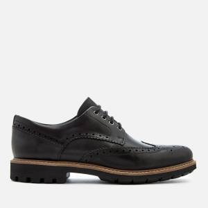 Clarks Men's Batcombe Wing Leather Brogues - Black - UK 7 - Black