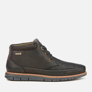 Barbour Men's Nelson Nubuck 3-Eye Chukka Boots - Black - UK 8