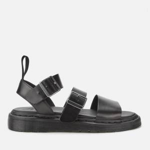 Dr. Martens Gryphon Strap Leather Sandals - Black - UK 3 - Black