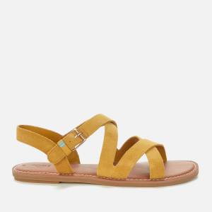 TOMS Women's Amber Gold Suede Sicily Sandal - Gold - UK 5