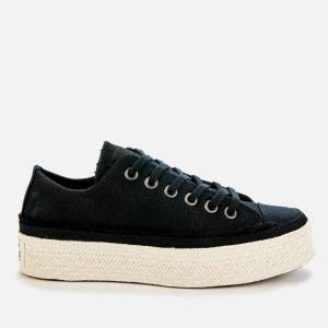 Converse Women's Chuck Taylor All Star Espadrille Ox Trainers - Black/White/Natural - UK 3
