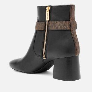 MICHAEL MICHAEL KORS Women's Abigail Flex Leather Heeled Boots - Black/Brown - UK 3