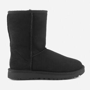 UGG Women's Classic Short II Sheepskin Boots - Black - UK 8