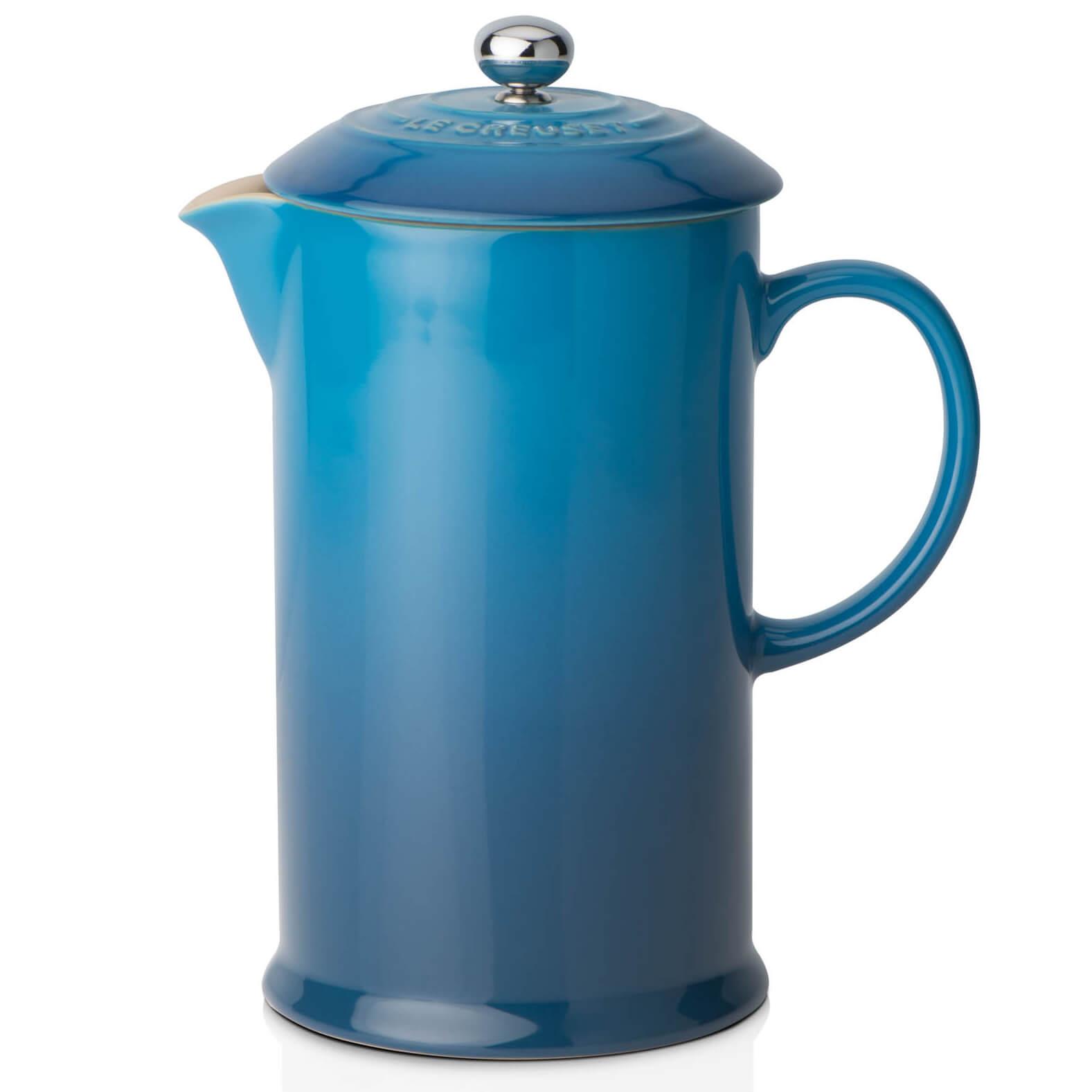 Le Creuset Stoneware Cafetiere Coffee Press - Marseille Blue