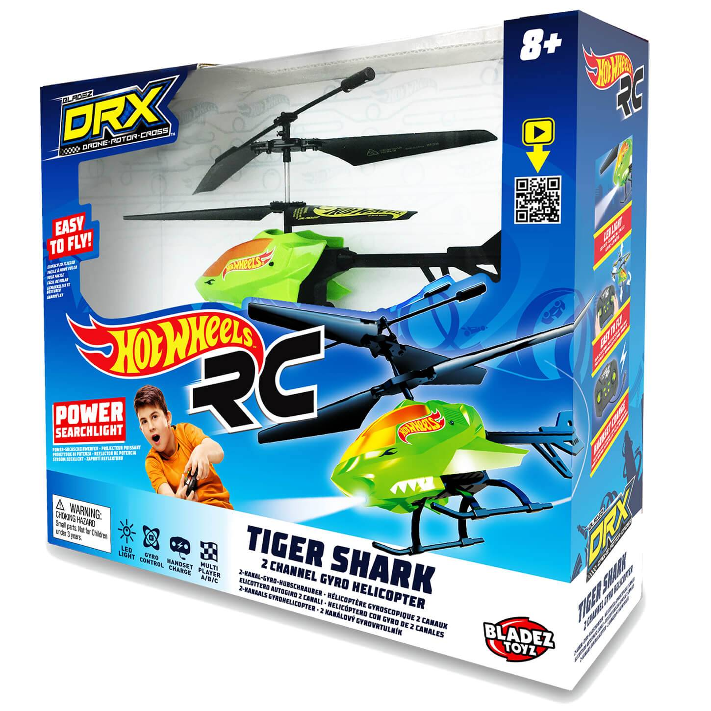 Bladez Toyz Hot Wheels DRX Tiger Shark Helicopter