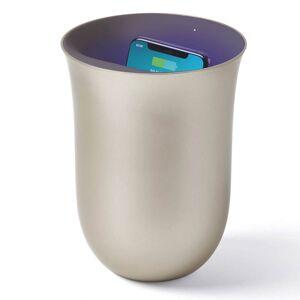 Lexon OBLIO Wireless Charging Station and UV Sanitiser - Gold