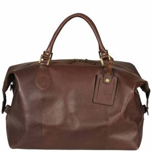 Barbour Men's Medium Travel Explorer Bag - Dark Brown