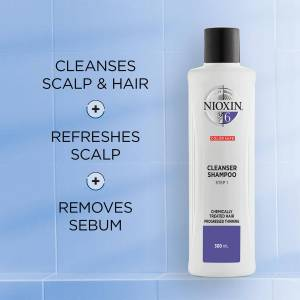 NIOXIN 3-Part System 6 Cleanser Shampoo for Chemically Treated Hair with Progressed Thinning 1000ml