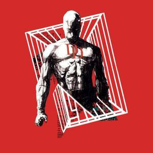 Marvel Knights Daredevil Cage Women's T-Shirt - Red - L - Red