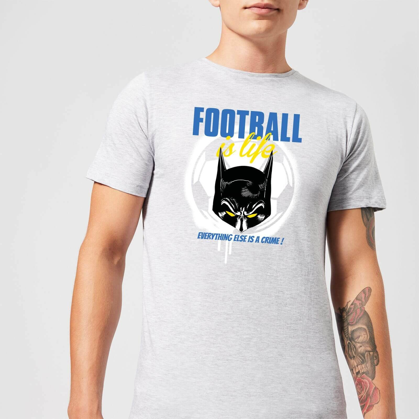 DC Comics Batman Football Is Life T-Shirt in Grey - 3XL - Grey