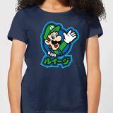 Nintendo Super Mario Luigi Kanji Women's T-Shirt - Navy - S - Navy