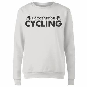 The Dad Collection I'd Rather be Cycling Women's Sweatshirt - White - L - White