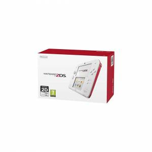Unbranded Nintendo Handheld Console 2DS - White/Red (New)