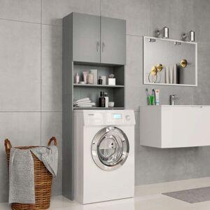 Simply Chosen 4u Washing Machine Cabinet Grey 64x25.5x190 cm Chipboard