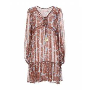 TRAFFIC PEOPLE Short dress Women - Brown - M,S