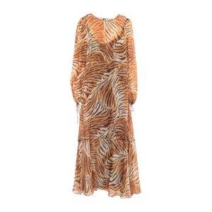 TWINSET 3/4 length dress Women - Brown - 10,12,6