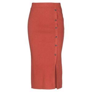 PIECES 3/4 length skirt Women 3/4 length skirt Women  - Rust - Size: Large