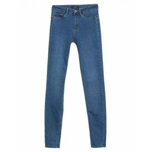 PIECES Denim trousers Women - Blue - XXS