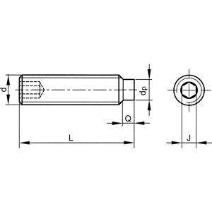 M3X5 Skt Set Screw - Dog Point (GR-45H) (14.9)