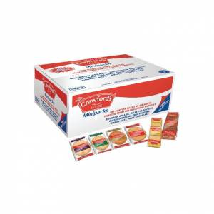 A06059 Crawfords Mini Assorted Biscuits Pack of 100