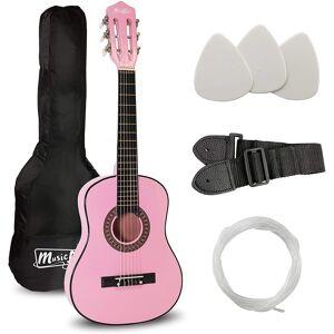 Music Alley Junior Class Guitar Pink