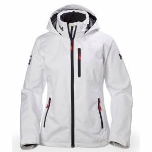 Helly Hansen Womens Crew Hooded Midlayer Sailing Jacket White L