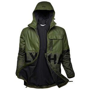 Helly Hansen Mens Active Hybrid Pu Rain Jacket Green XXL
