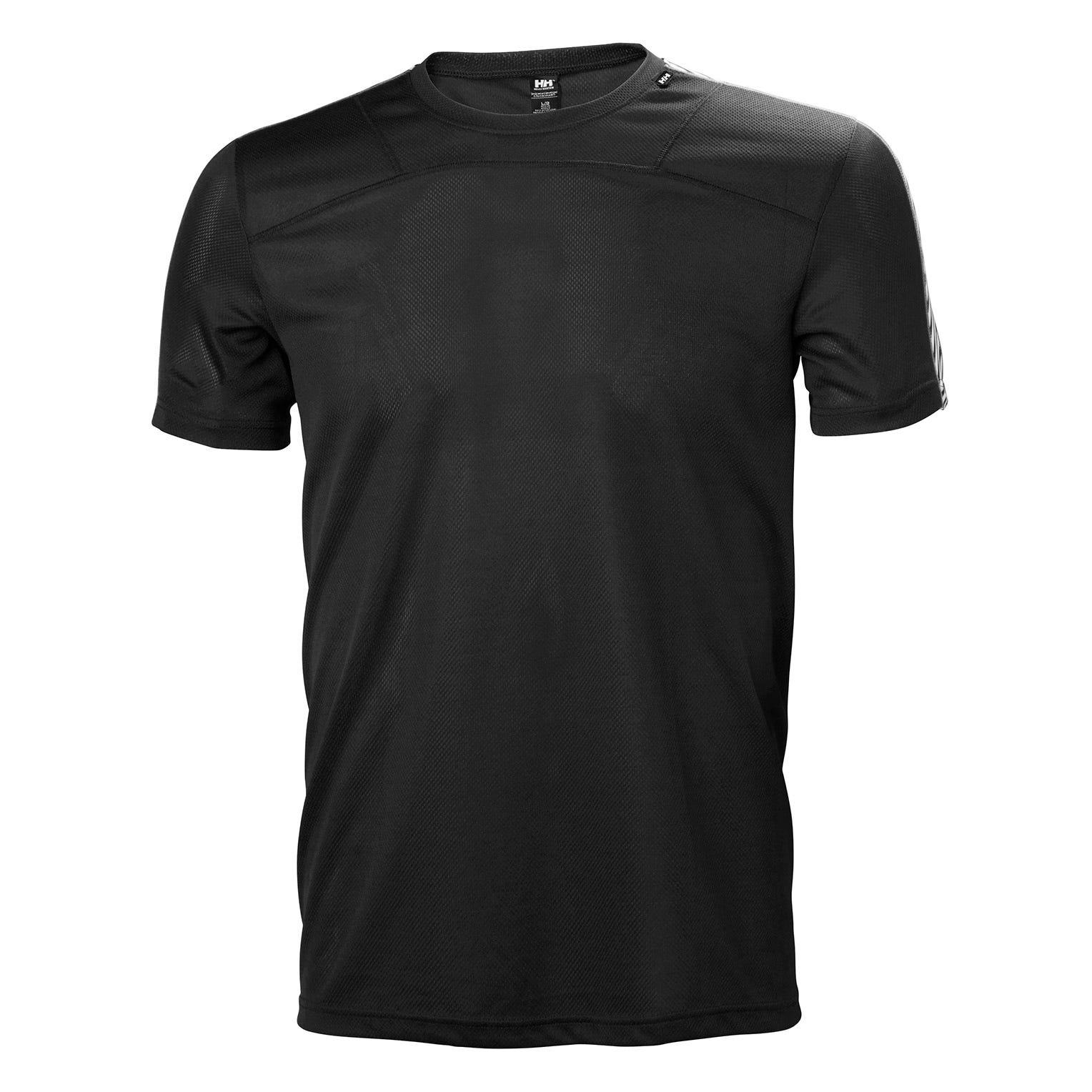 Helly Hansen Mens Lifa Tshirt Baselayer Black XL
