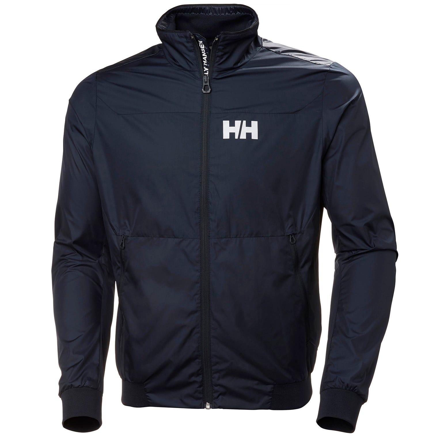 Helly Hansen Mens Crew Windbreaker Sailing Jacket Navy XL