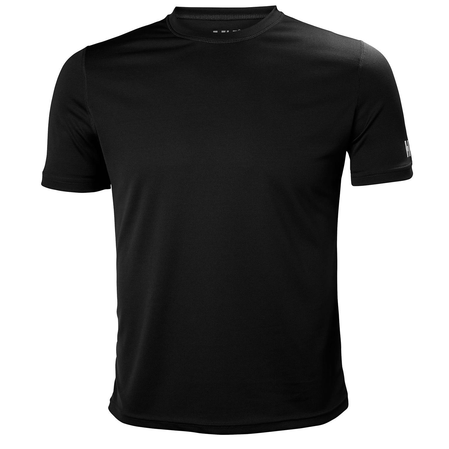 Helly Hansen Mens Tech Tshirt Baselayer Black XL