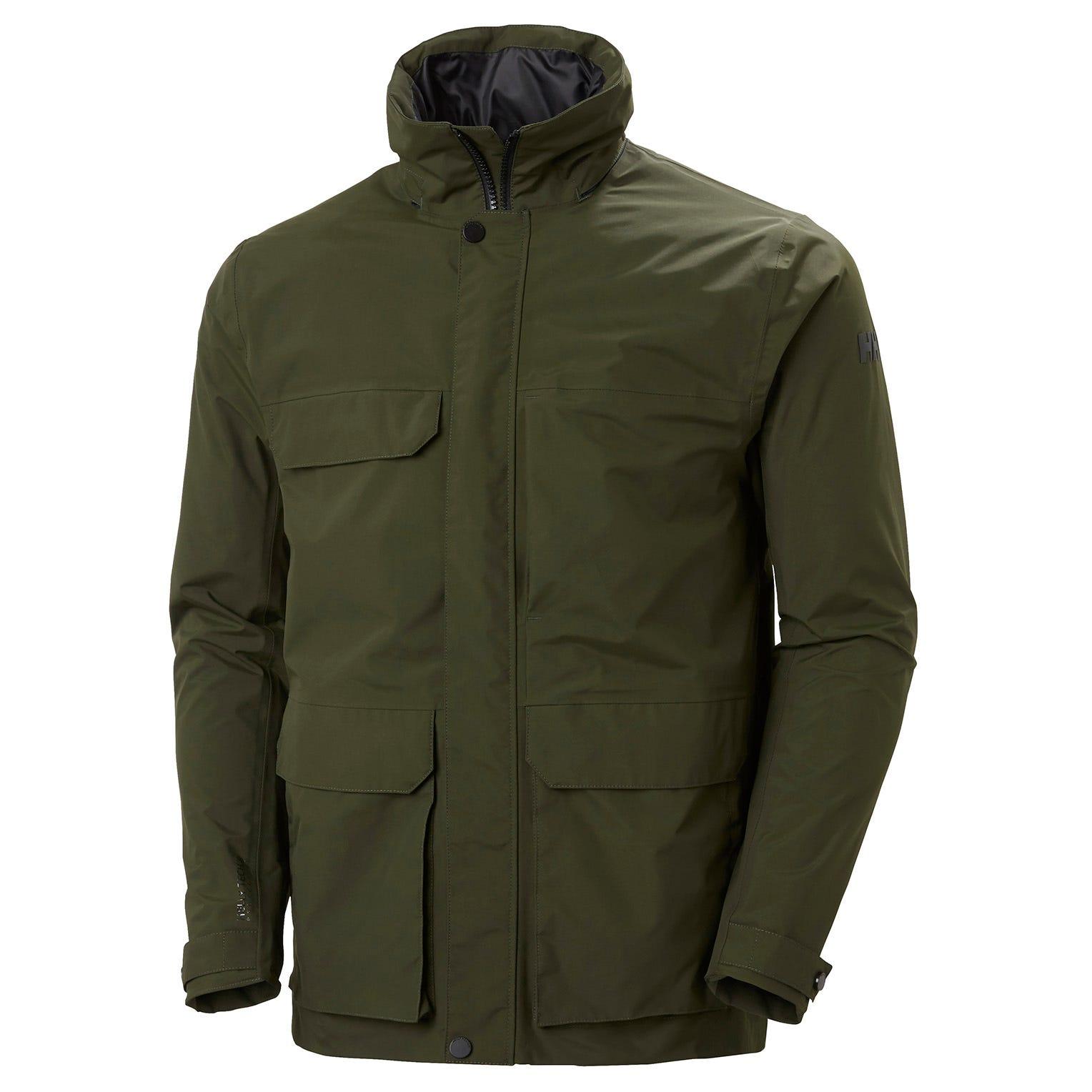 Helly Hansen Men's Utility Waterproof Rain Jacket Green XL