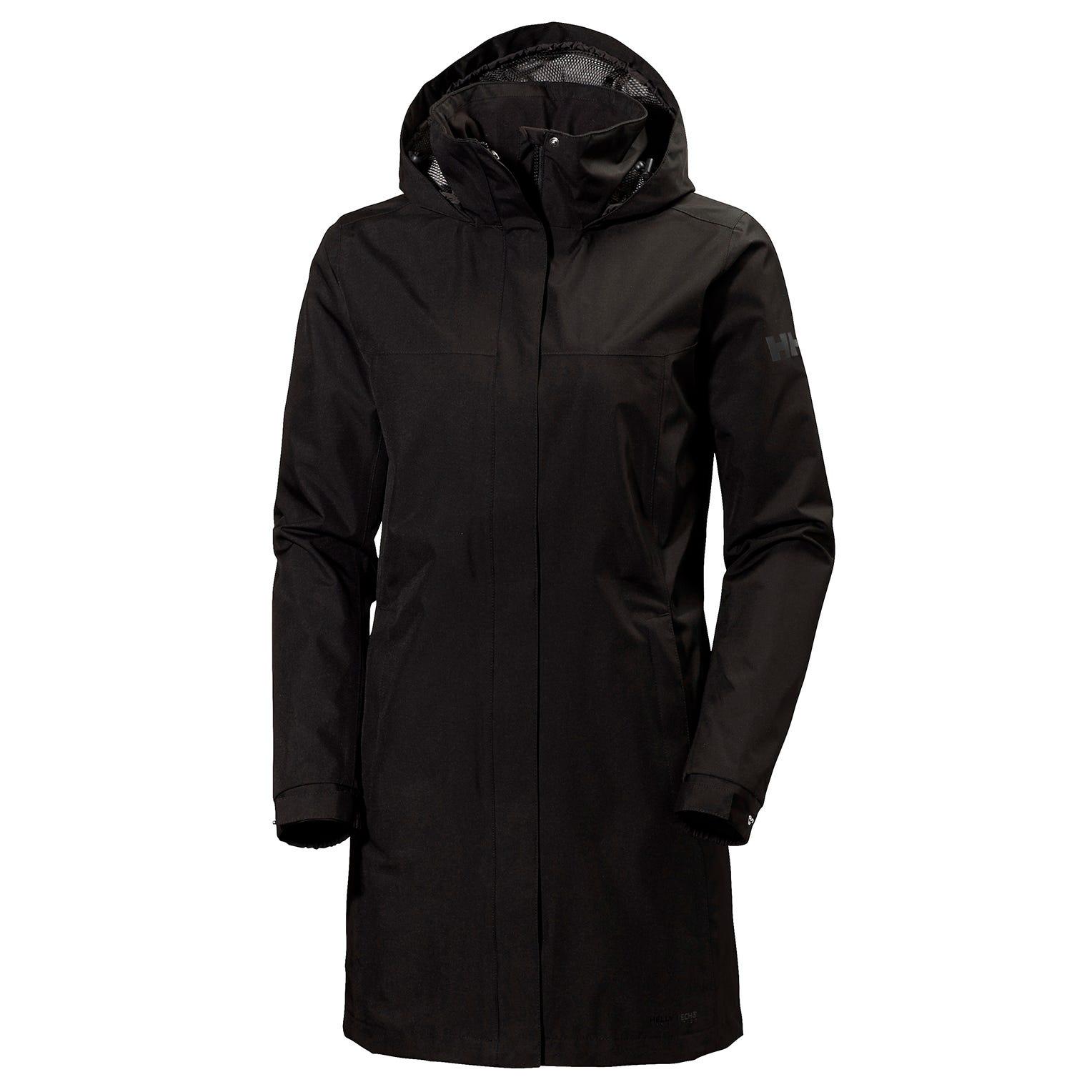 Helly Hansen Women's Aden Long Rain Coat Black XXXXXL