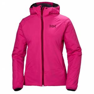 Helly Hansen Womens Odin Stretch Hooded Insulator Hiking Jacket Pink XL