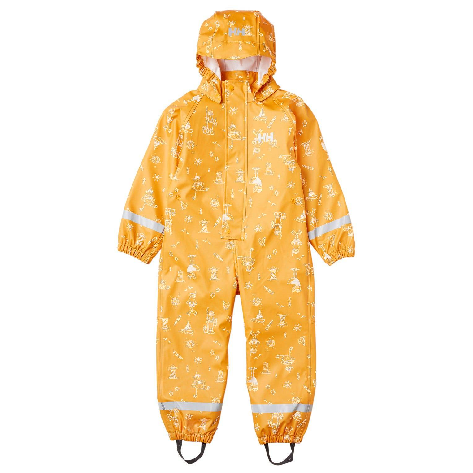 Helly Hansen Kid's Bergen Pu Waterproof Rain Playsuit Yellow 128/8